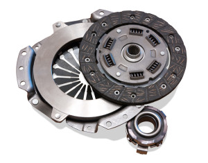 automobile  clutch. Isolated on white with clipping path